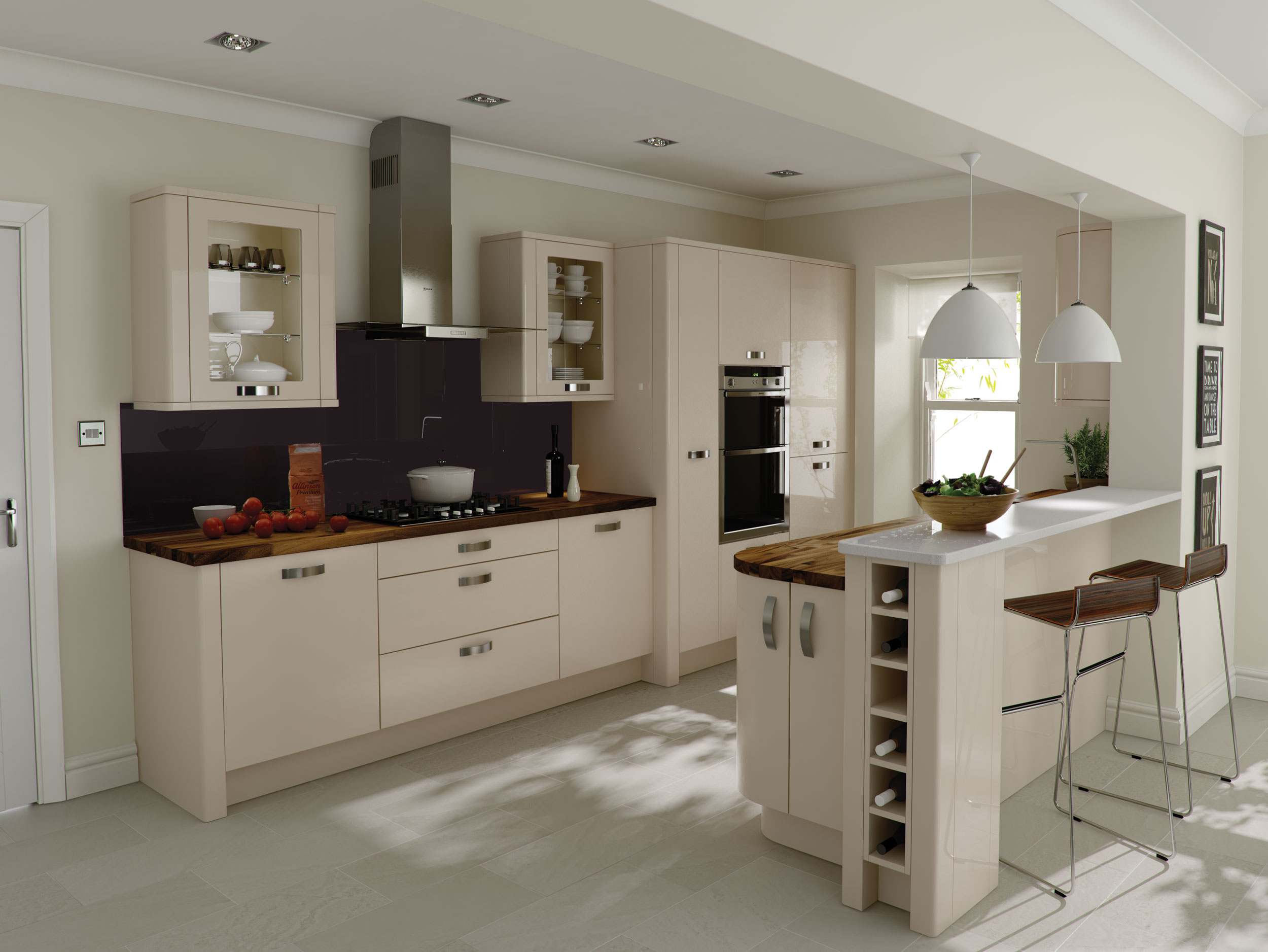 Porter beige contemporary kitchen in alabaster Modern kitchen design ideas 2015